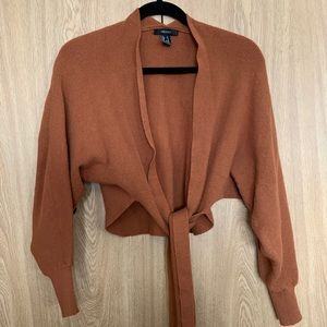 Forever 21 Tie Front Sweater